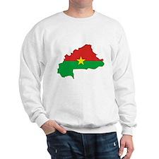 Burkina faso Flag Map Sweatshirt