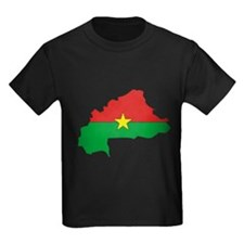 Burkina faso Flag Map T