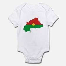 Burkina faso Flag Map Infant Bodysuit