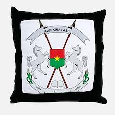 Burkina faso Coat of Arms Throw Pillow