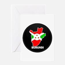 Flag Map of Burundi Greeting Card