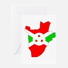 Burundi Flag Map Greeting Card