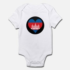I love Cambodia Flag Infant Bodysuit
