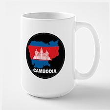 Flag Map of Cambodia Mug