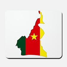 Cameroon Flag Map Mousepad