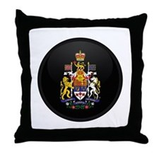 Coat of Arms of Canada Throw Pillow