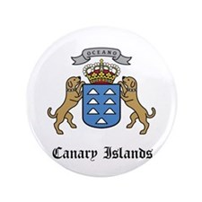 "Canary Islander Coat of Arms 3.5"" Button"