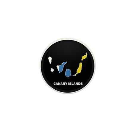 Flag Map of Canary Islands Mini Button
