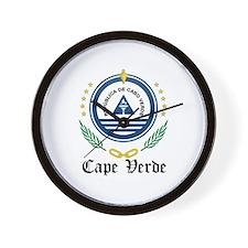 Cape Verdean Coat of Arms Sea Wall Clock