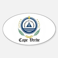Cape Verdean Coat of Arms Sea Oval Decal
