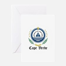 Cape Verdean Coat of Arms Sea Greeting Card