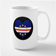 I love Cape Verde Flag Large Mug