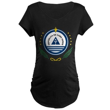 Cape Verdean Maternity Dark T-Shirt