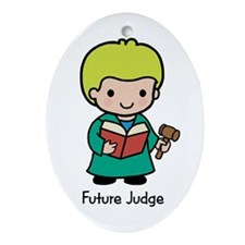 Future Judge - boy Oval Ornament