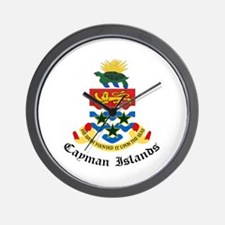 Caymanian Coat of Arms Seal Wall Clock