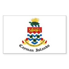 Caymanian Coat of Arms Seal Rectangle Decal