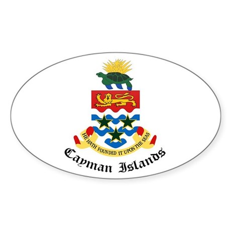Caymanian Coat of Arms Seal Oval Sticker
