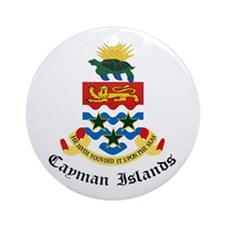 Caymanian Coat of Arms Seal Ornament (Round)