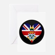 I love CAYMAN ISLANDS Flag Greeting Card