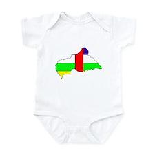 Central African Republic Fla Infant Bodysuit