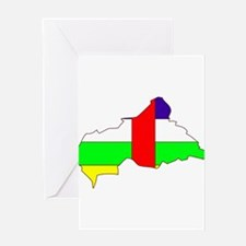 Central African Republic Fla Greeting Card