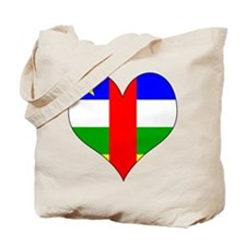 I Love Central African Repub Tote Bag