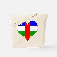 I Love Central African Repub Tote Bag