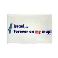 Israel on MY map! Rectangle Magnet