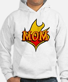 MOM with Flaming Heart Hoodie