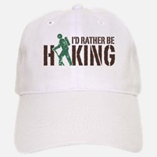 I'd Rather Be Hiking Baseball Baseball Cap