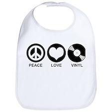 Peace Love Vinyl Bib