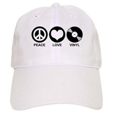 Peace Love Vinyl Baseball Cap
