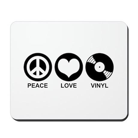 Peace Love Vinyl Mousepad