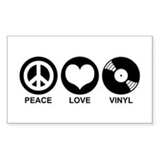 Peace Love Vinyl Rectangle Decal