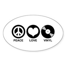Peace Love Vinyl Oval Decal