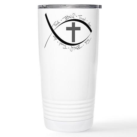 jesus fish Stainless Steel Travel Mug