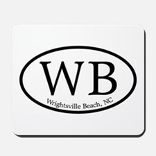 WB Wrightsville Beach Oval Mousepad