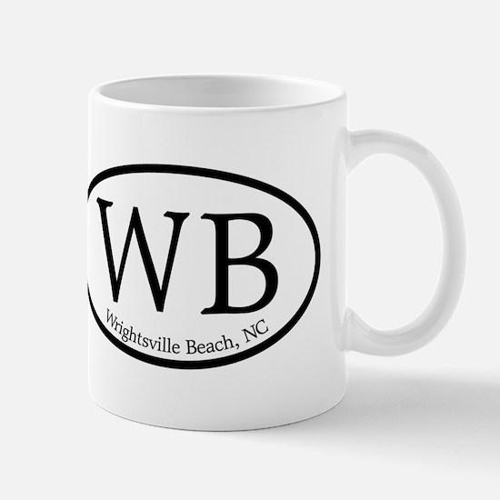 WB Wrightsville Beach Oval Mug