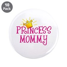 """Princess Mommy 3.5"""" Button (10 pack)"""