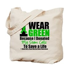 StemCellDonorIWearGreen Tote Bag