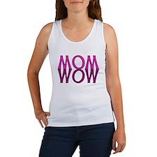 MOM upside down is WOW Women's Tank Top