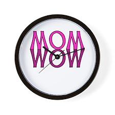 MOM upside down is WOW Wall Clock