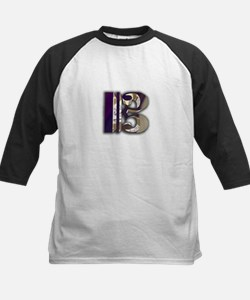 Bass Clef in Metal Kids Baseball Jersey