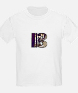 Bass Clef in Metal Kids T-Shirt
