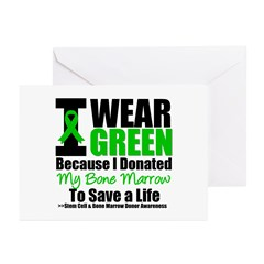 BM Donor I Wear Green Greeting Cards (Pk of 20)
