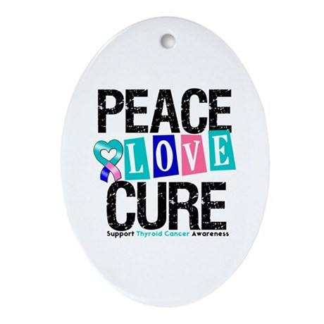 Thyroid Cancer Cure Oval Ornament