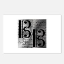 Alto Clef on Silver Postcards (Package of 8)