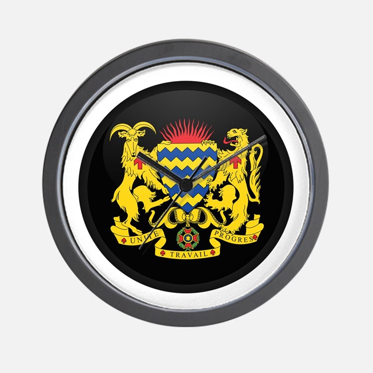 Coat of Arms of Chad Wall Clock