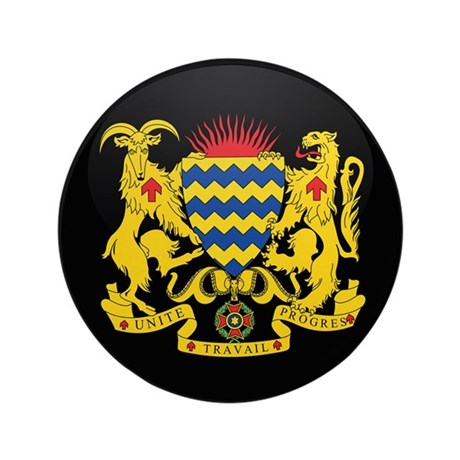 "Coat of Arms of Chad 3.5"" Button"