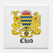 Chadian Coat of Arms Seal Tile Coaster